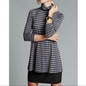Anthropolgie Bailey 44 turtleneck striped dress M
